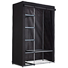 more details on HOME Metal and Polycotton Double Wardrobe - Black.