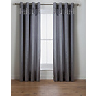 more details on Inspire Sparkle Lined Curtains - 168 x 228cm - Silver.