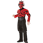 more details on Child's Deluxe Red Darth Maul Fancy Dress Costume - Medium.