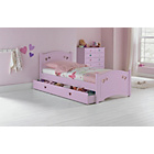 more details on Mia Pink Single Bed Frame with Dylan Mattress.