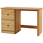 more details on Preston 2 Drawer Solid Pine Office Desk - Light.