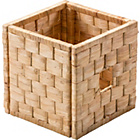 more details on Water Hyacinth Woven Cube Storage Basket - Large Weave.