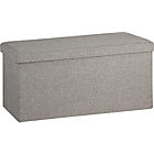 more details on Large Fabric Ottoman - Grey.