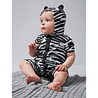 more details on Baby Zebra Print Hooded Romper Suit.