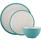 more details on ColourMatch 12 Piece Stoneware Dinner Set - Aqua.