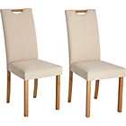 more details on Pair of Linen Mid Back Dining Chairs.