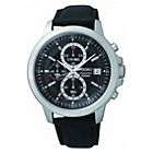 more details on Seiko Men's Black Dial Chrono Strap Watch.