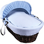 more details on Clair de Lune Cotton Candy Dark Wicker Moses Basket - Blue.