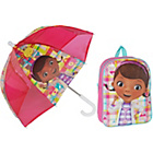 more details on Disney Doc McStuffin Backpack and Dome Umbrella Set - Lilac.