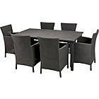 more details on Keter Iowa Rattan Effect 6 Str Dining Set - Graphite.