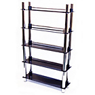 more details on 5 Tier Media Display Storage - Black Glass.