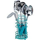 more details on ColourMatch Stainless Steel 5 Pc Kitchen Utensils Set- Aqua.