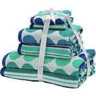 more details on Colour Match 6 Piece Towel Bale Set - Spots and Stripes.