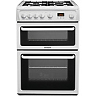 more details on Hotpoint HAG60P Double Gas Cooker - White.