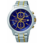 more details on Seiko Men's 2-Tone Blue Dial Chrono Bracelet Watch.