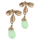more details on Pastel Green Gold Coloured Drop Earrings.