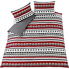 more details on Crosby Red Stripe and Spot Bedding Set - Double.