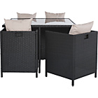 more details on Rattan Effect 4 Seater Cube Patio Set - Express Delivery.