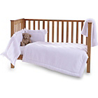 more details on Clair de Lune Honeycomb 3 Piece Cot/Cot Bed Set - White.