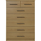 more details on HOME Normandy 5+2 Drawer Chest - Oak Effect.