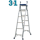 more details on Abru Aluminium Combination Ladder 3 in 1 with Tray.