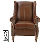 more details on Heart of House Argyll Studded Leather Chair - Tan.