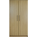 more details on Normandy 2 Door Large Wardrobe - Oak Effect.