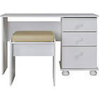 more details on New Stirling Dressing Table and Stool - White.