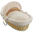 more details on Clair de Lune Honeycomb Natural Wicker Moses Basket - Cream.