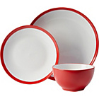 more details on ColourMatch 12 Piece Stoneware Dinner Set - Red.