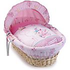 more details on Clair de Lune Natural Wicker Moses Basket Lottie and Squeek.