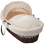 more details on Clair de Lune Marshmallow Dark Wicker Moses Basket - Cream.