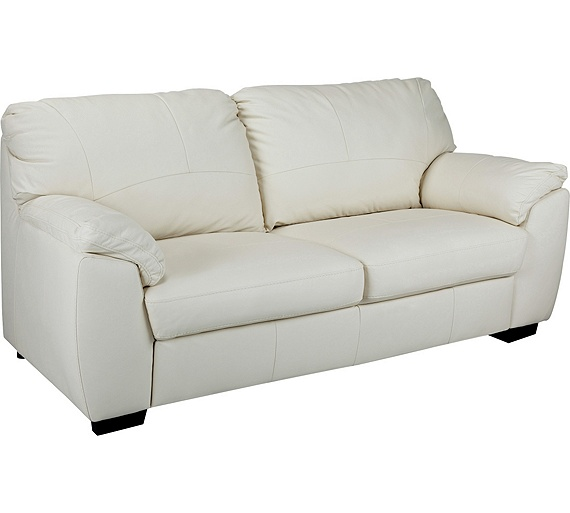 Buy Collection Milano 3 Seater Leather Sofa Ivory At