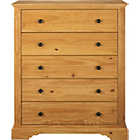 more details on Heart of House Warwick 5 Drawer Chest - Oak Effect.
