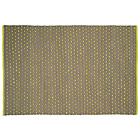 more details on Habitat Stephens Grey and Yellow Flat Weave Rug Small.