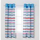 more details on Chad Valley Striped Curtains- 168 x137cm - Multicoloured.