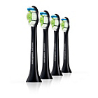 more details on Philips Sonicare HX6064 DiamondClean Black Brush Heads - x4.
