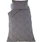 more details on Heart of House Caesar Grey Pintuck Bedding Set - Single.