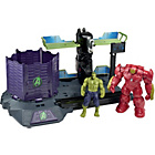more details on Hulk Buster Breakout; includes Hulk and Hulk Buster figures.