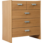 more details on New Capella 3+2 Drawer Chest - Oak Effect.