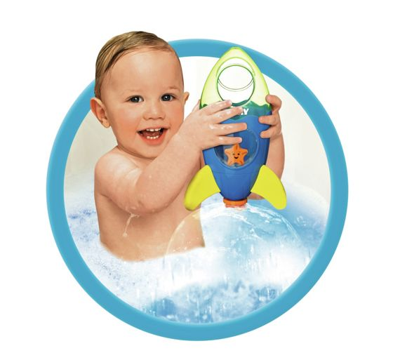 buy tomy fountain rocket bath toy at your online shop for baby bath toys and books. Black Bedroom Furniture Sets. Home Design Ideas