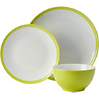 more details on ColourMatch 12 Piece Stoneware Dinner Set - Green.