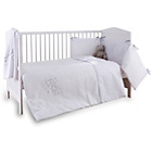 more details on Clair de Lune Stardust 3 Piece Cot/Cot Bed Set - White Trim.