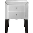more details on Murano 2 Drawer Bedside Chest - Mirrored.