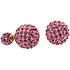 more details on Link Up Pink Crystal Ball Stud Earrings.