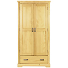 more details on Collection Mendoza 2 Door 1 Drawer Wardrobe - Pine.