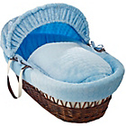more details on Clair de Lune Marshmallow Dark Wicker Moses Basket - Blue.