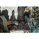 more details on New York Collage Canvas Wall Art.