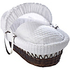 more details on Clair de Lune Marshmallow Dark Wicker Moses Basket - White.