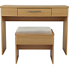 more details on Normandy Dressing Table and Stool - Oak Effect.